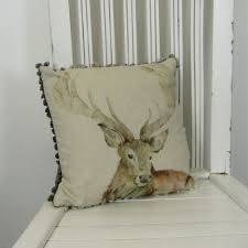 voyage maison cushion gregor mini cushion 30 x 30cm stag cushion