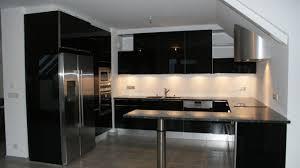 cuisine laqué noir bien cuisine blanc laque avec ilot 3 d233co noir et newsindo co