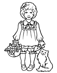 cat coloring pages girls coloring