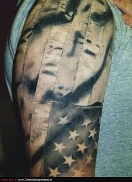 american flag skin tear tattoo design real photo pictures