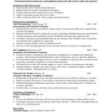 maintenance technician resumeresume objective examples building