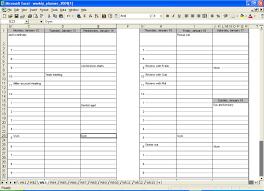 blank calendar template weekly