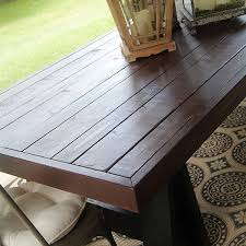 homemade wood outdoor tables landscaping gardening ideas