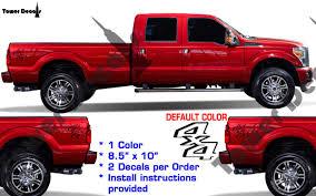 Ford F250 Truck Box - 4x4 vinyl decal fits ford trucks 2008 2016 f250 f350 super duty