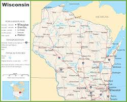 Illinois Road Map by Wisconsin Highway Map
