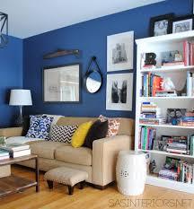 home office wall decor ideas in blue walls minimalist desk cool