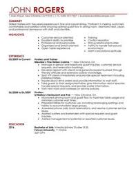 restaurant server resume cool cocktail server resume skills to convince restaurants or café