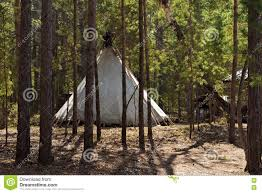 Wooden Tent by Chum Tent Stock Photo Image 70502600