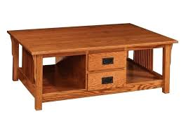 coffee tables with drawers prairie mission coffee table with four
