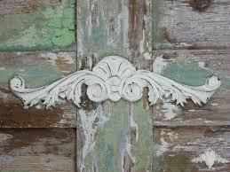chic mouldings shabby large art deco pediment