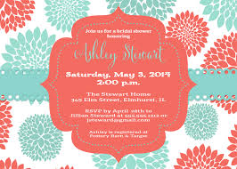 blooms baby shower invitation and personalized sign coral u0026 blue