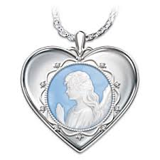 and granddaughter necklace bless you granddaughter angel cameo pendant necklace