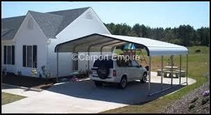 Steel Car Port Two Car Steel Carport With Extra Width 20 U0027x21 U0027x6 U0027 Carport Empire