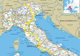 Italian Map Trend Road Map Italy Emaps World