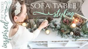 christmas decorations for sofa table 2017 christmas diy decor challenge sofa table styling youtube