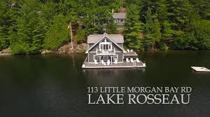 Lake Joseph Cottage Rentals by Don Evans 113 Little Morgan Bay Lake Rosseau Muskoka Youtube
