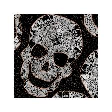 spider web patterned skull 100 cotton fabric patchwork
