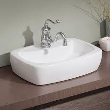 shop cheviot thema white vessel rectangular bathroom sink at lowes com