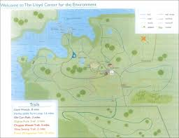 Green Circle Trail Map Walking Trails Lloyd Center For The Environment Dartmouth Ma