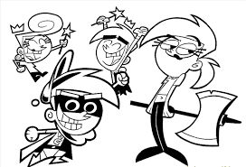 timmy turner coloring pages fairly odd parents characters timmys