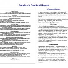 A Functional Resume Cover Letter Resume Template Functional Microsoft Functional