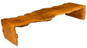 flawless one piece coffee table sisaki raw wood