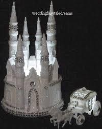 castle cake topper wedding fairytale dreams bling lighted cinderella castle cake