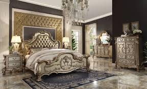 Gold And Grey Bedroom by Dresden 4pc Pu Gold King Bedroom Set 23157ek
