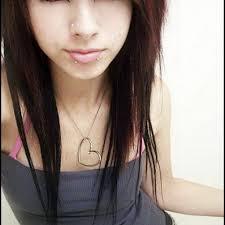 girls emo hairstyle long hair hair x