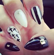 cute black and white nails archives for creative juice