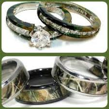 Camo Wedding Ring by His And Hers 925 Sterling Silver Titanium Camo Wedding Rings Set