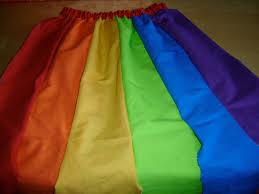 vestito da arcobaleno per carnevale stoffine ikea i miei