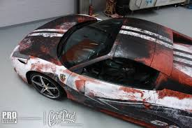 ferrari custom paint paint is dead ferrari 458 spider gets rust wrap ferrari center