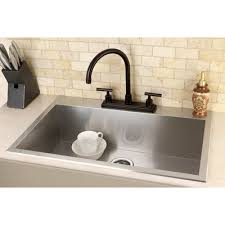 Kingston Brass Uptowne  X  SelfRimming Single Bowl - Brass kitchen sink