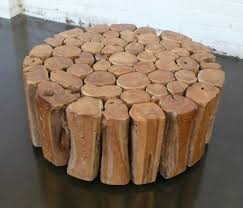 coffee table circle woodee table the creative recycled round