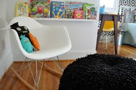 decor kids room with lovesac bean bag and eames rocking chair