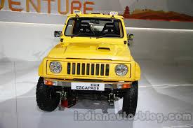 jeep jipsy maruti gypsy escapade front live indian autos blog