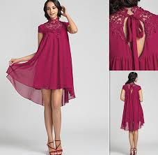 designer cocktail dresses high sheer neckline burgundy chiffon and - Designer Cocktail Dresses