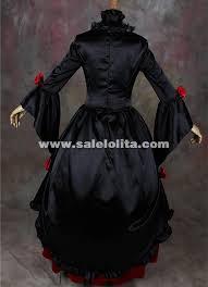 Black Wedding Dress Halloween Costume Black Red Vampire Halloween Dresses Southern Belle Victorian
