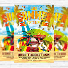summer holiday travel u2013 premium flyer template facebook cover