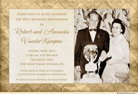 50th wedding invitations winter elegance anniversary invitation photo vintage time