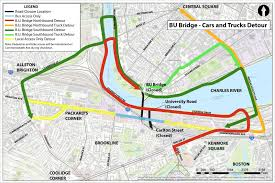 Green Line Map Boston by What You Need To Know About The Comm Ave Closure Wbur News