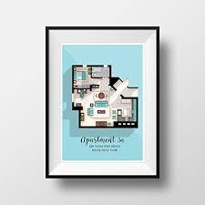 seinfeld apartment floor plan amazon com seinfeld poster seinfeld tv show apartment floor
