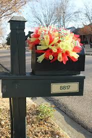 miss kopy kat curly deco mesh mailbox topper