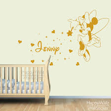 mini mouse name wall sticker diy baby nursery custom name wall