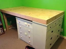 How To Make A Platform Bed With Drawers Underneath by Needed Space In My Bedroom Decided To Make A Loft Bed Lofts