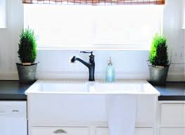 Retro Kitchen Faucets Kitchen With White Apron Sink Also Black Traditional Kitchen Sink