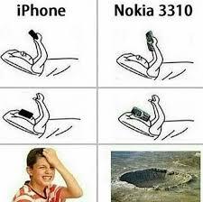 Nokia 3310 Meme - iphone vs nokia 3310 funny dank memes gag