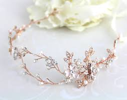 gold hair accessories gold hair vine gold headband wedding hair