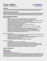Ministry Resume Template Contemporary Worship Leader Cover Letter Human Resources Clerk
